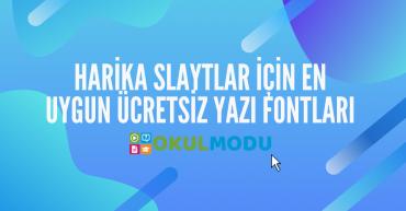 slaytlar için ücretsiz Yazı Fontları